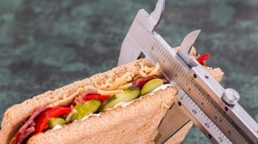 Sandwich im Messgerät